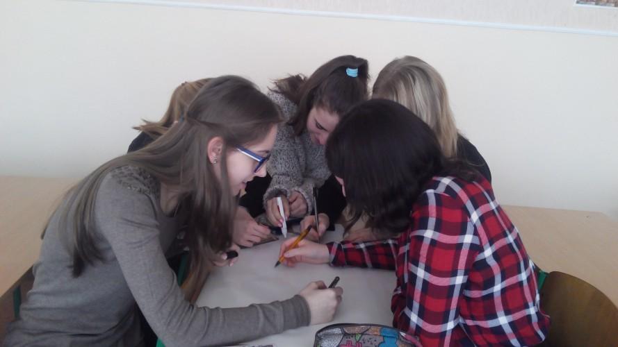 """Планування проекту """"Спільний простір"""" учнями 11-Б класу"""
