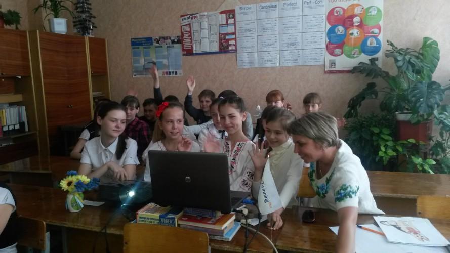 SKYPE конференція етвінерів  з польськими партнерами