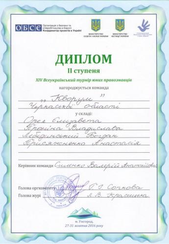 """Проект """"Турнір юних правознавців"""". Ужгород"""